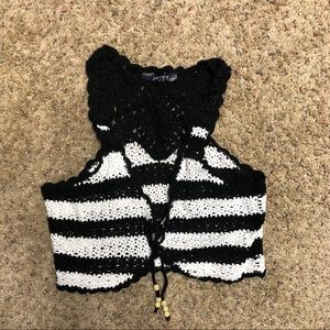 YETTS Los Angeles crocheted vest